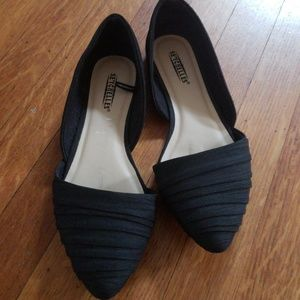 Seychelles pointed black flats size 6.5